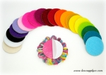 "1.5"" Adhesive Felt Circles - Your Choice of Colors - Sticky Felt Circles for Baby Headbands - Sold in Sets of 10"