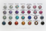15mm Acrylic Rhinestone Buttons - 24 Colors Available!