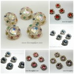 18mm Vintage Elegance Acrylic Rhinestone Buttons - 5 Colors Available!