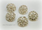 20mm Crystal Clear Rhinestone Metal Embellishment