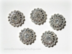 24mm Metal Rhinestone Embellishments with a Flatback