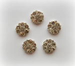 23mm Gorgeous Metal Rhinestone Embellishment - Flatback