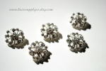 21mm Metal Rhinestone Buttons with Loop