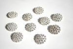 28mm Large Rhinestone Metal Buttons - Loop