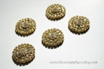 Gold 25mm Rhinestone Metal Embellishment
