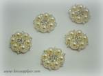 23mm Pearl and Rhinestone Embellishments - Flatback