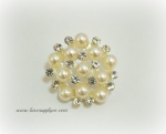 22mm Stunning Rhinestone & Pearl Buttons