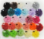 Over 50 Colors!! Chiffon and Lace flowers - New Smaller Size